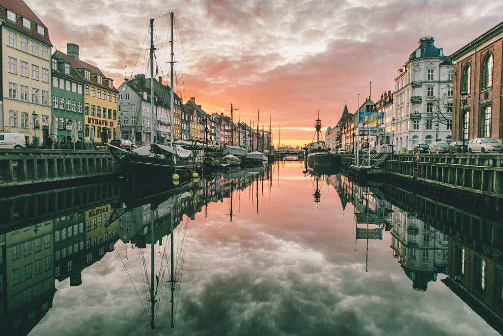 Nyhvan i Köpenhamn, soluppgång © Thomas Høyrup Christensen