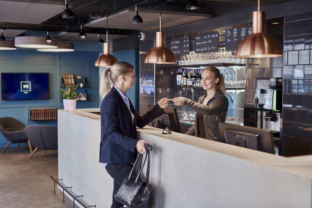 Bar og reception på Hotel København