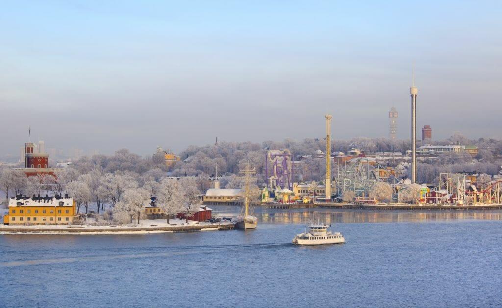 Vinter på Kungliga Djurgården